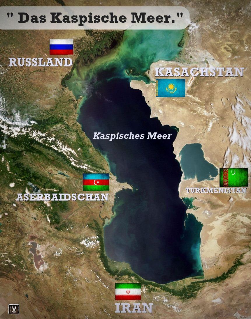 Landkarte Asien Ohne Namen.Das Kspische Meer Liegt In West Asien Und Im Aussersten