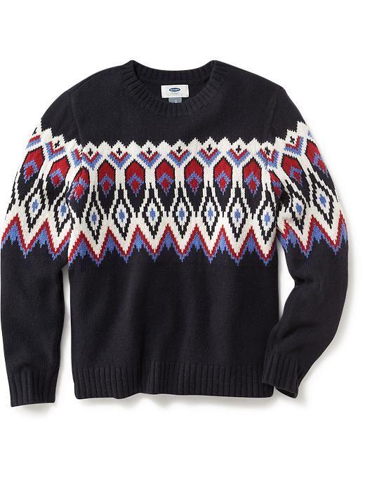Boys Fair Isle Sweater   kids stuff   Pinterest