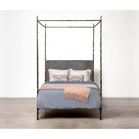 Our Favorite Boho Chic Looks Iron canopy bed, Bed