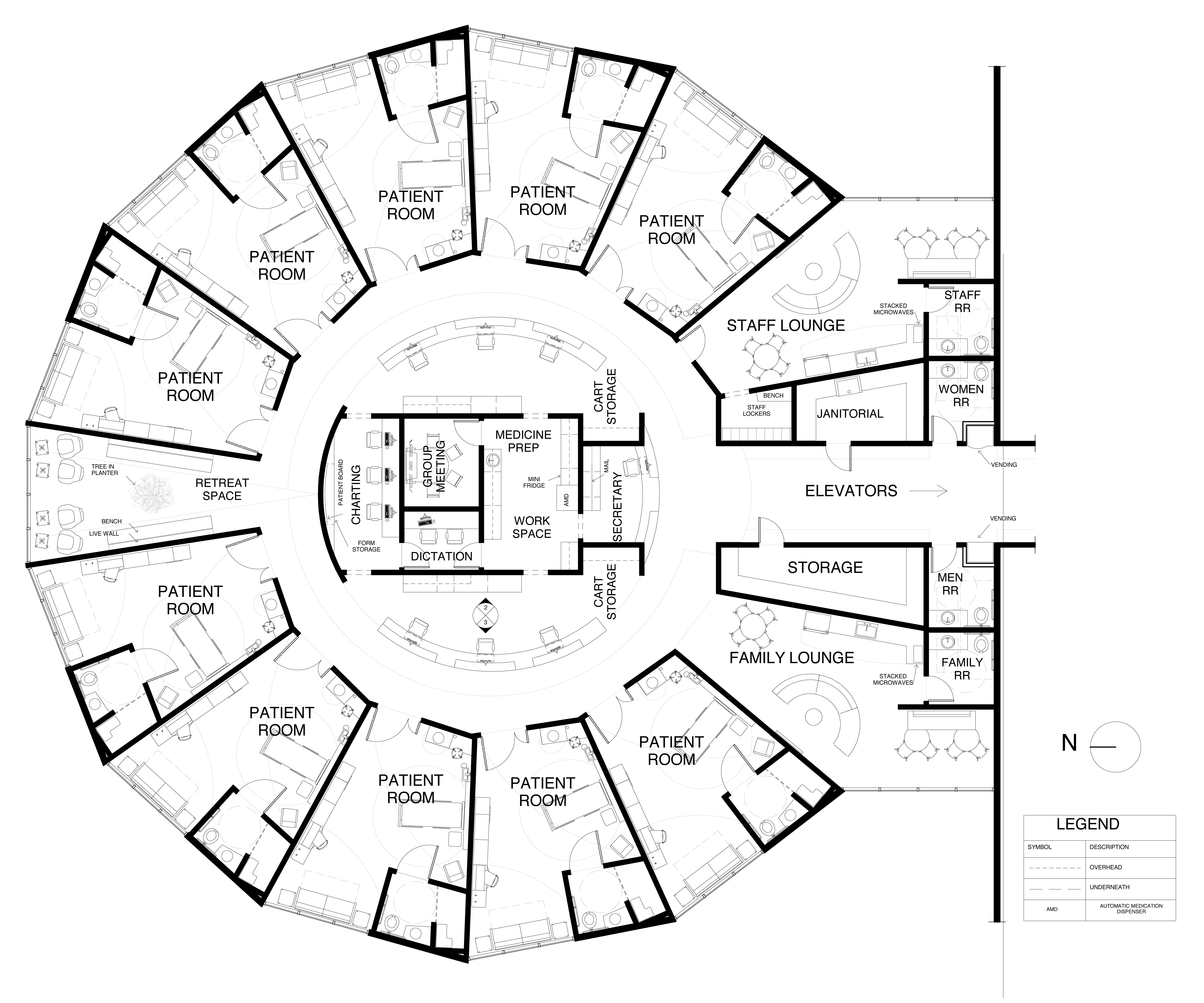 Nurse station floor plan google search med mari cancer for Plan out your room
