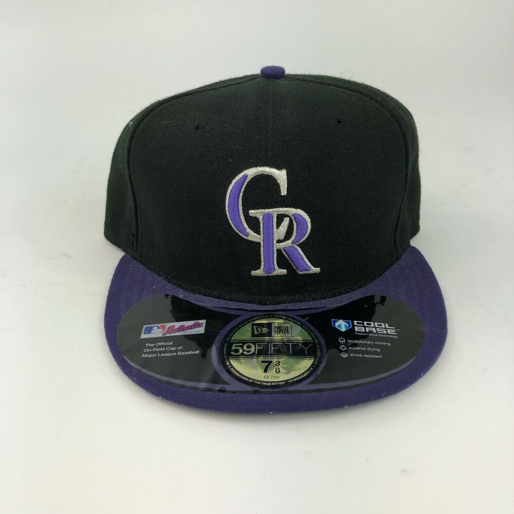innovative design cbea8 d461b New Era Colorado Rockies GAME 59Fifty Fitted Hat (Black) MLB Cap SHIPS FREE   fashion  clothing  shoes  accessories  mensaccessories  hats (ebay link)