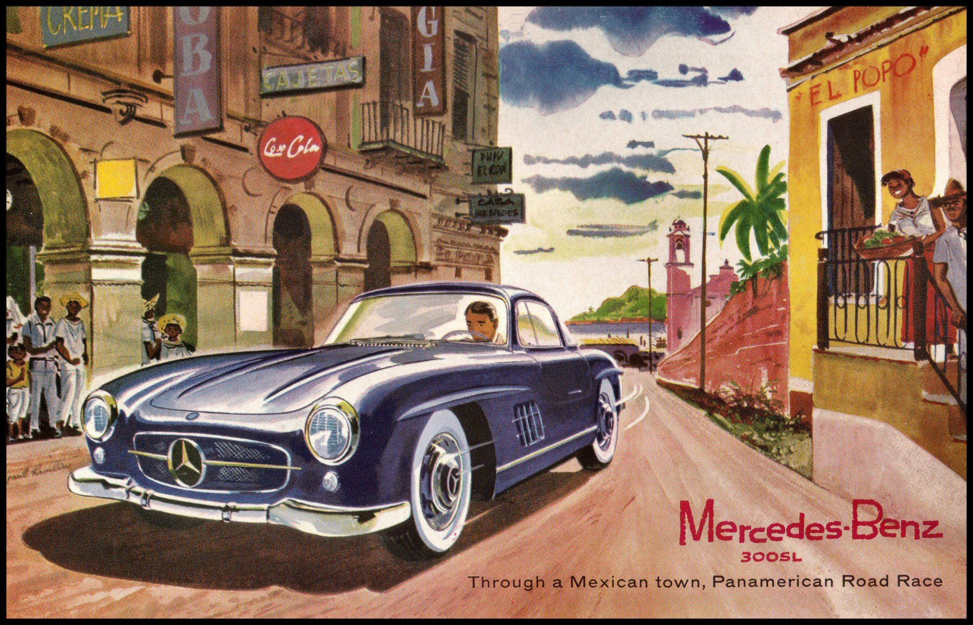 Mercedes vintage advertise cerca con google car 39 s for Mercedes benz poster