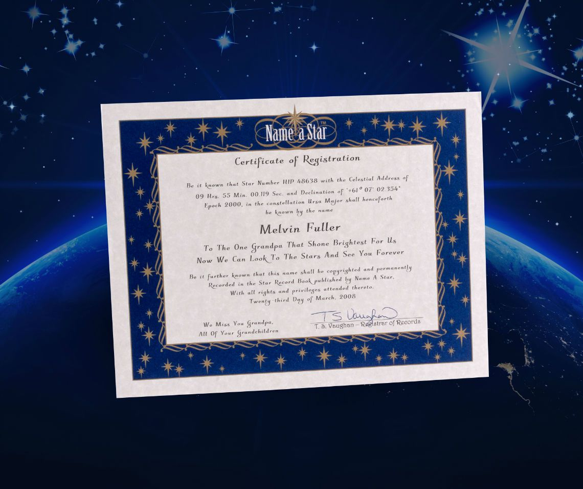 Name A Star Instant Certificate Buy And Name A Star Name Intended For Star Naming Certificate Template Certificate Templates Certificate Templates