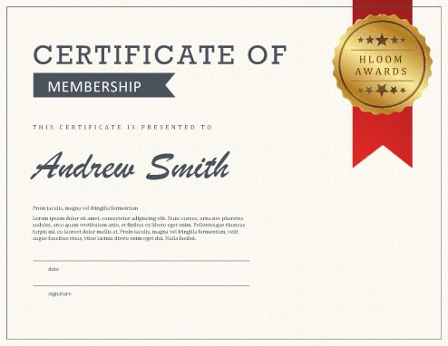 5 Certificate Of Membership Templates Free Download Hloom Inside Life Membership C In 2021 Certificate Templates Free Certificate Templates Templates Free Download
