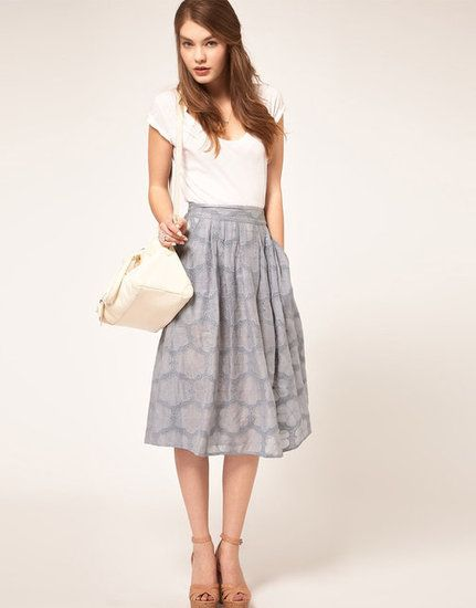 07443f50e adorable skirt! i love this mid-calf length especially since i look ridic  in maxis.