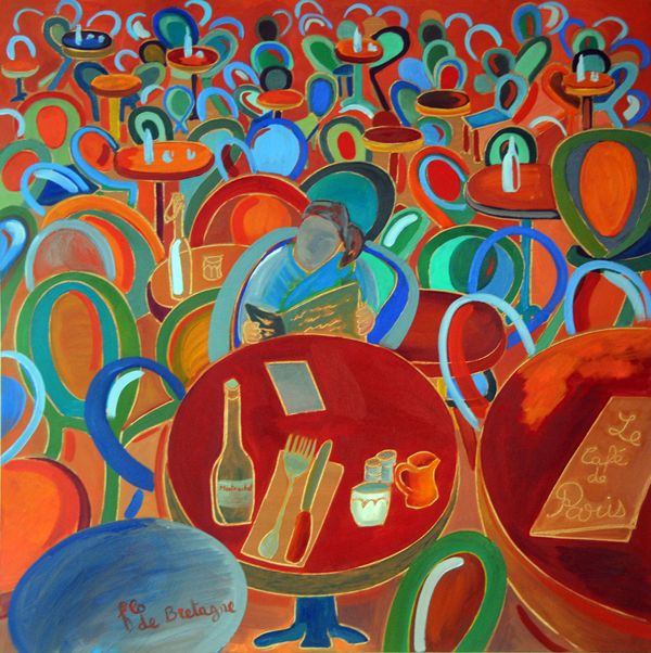 Le Cafe de Paris, Paris coffee store, 30 x 30 in