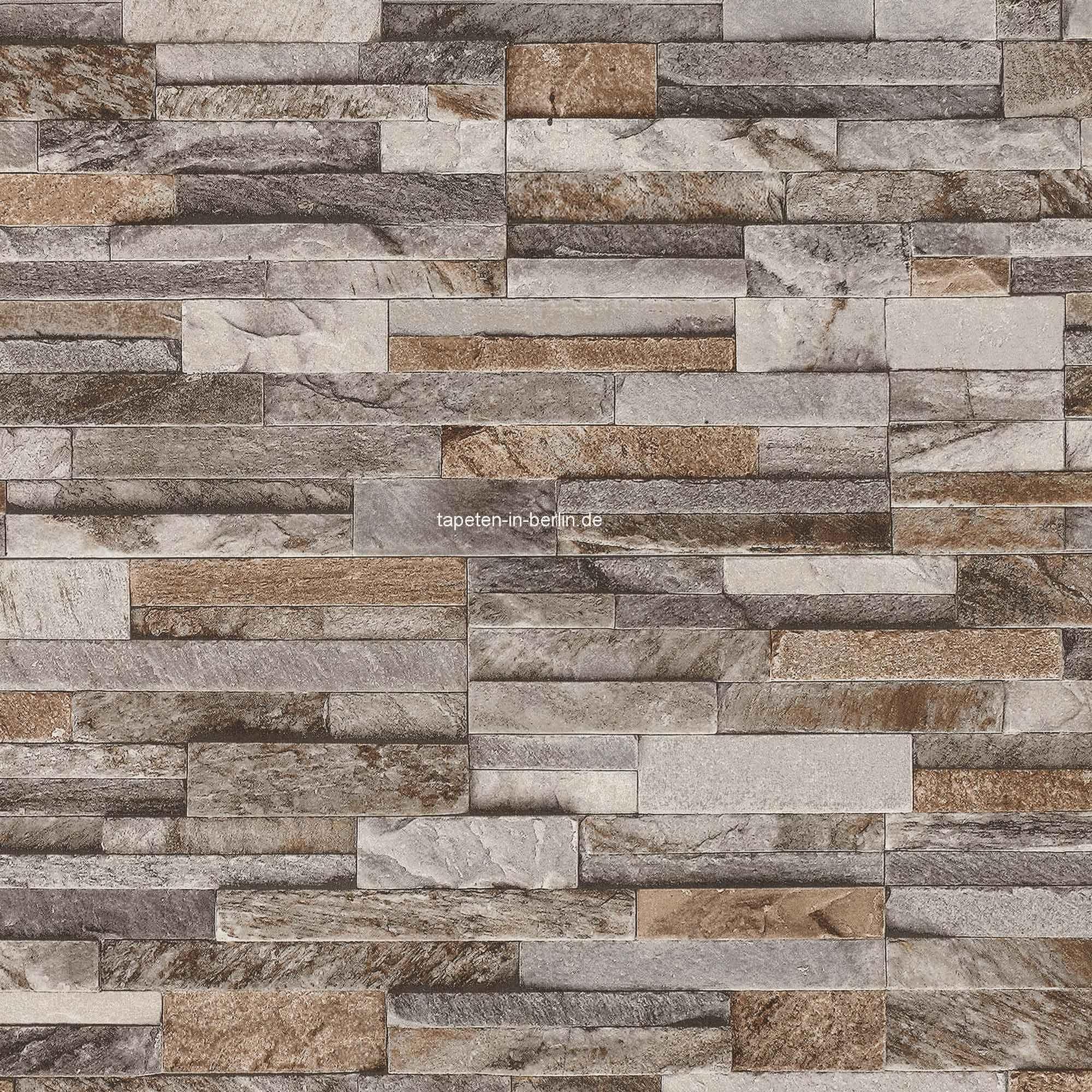 wandgestaltung wohnzimmer steintapete : Tapete Stein Steinwand Vlies Mauer Beige Fototapete Klinker Wand