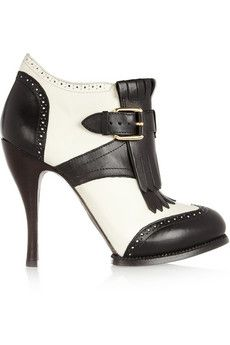 c855efcd92c7 McQ Alexander McQueen Two-tone leather ankle boots