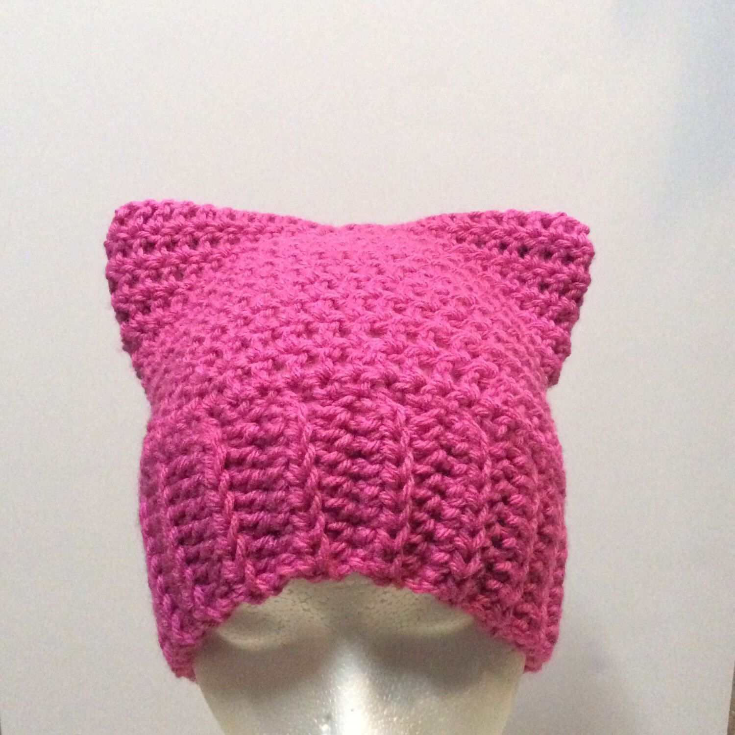 Pink Cat Hat, Hat With Cat Ears, Pussycat Hat, Kitty Cat Beanie by BarberrySparrow on Etsy https://www.etsy.com/listing/493471446/pink-cat-hat-hat-with-cat-ears-pussycat