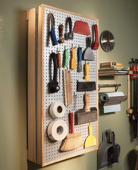 Peg Board Tool Cabinet With Piano Hinge I Should Build
