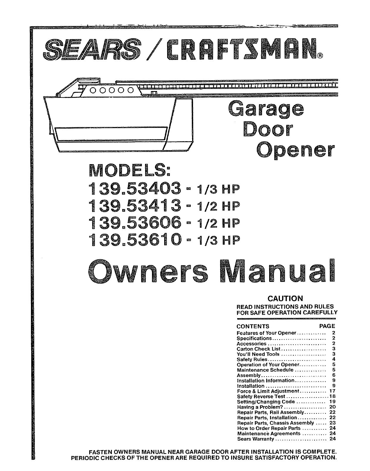 Craftsman 1 2 Hp Garage Door Opener Wiring Diagram regarding ...