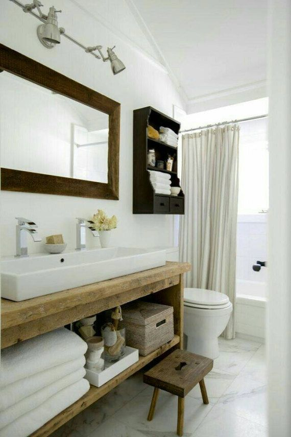 Rustic Custom Vanity Bathroom Powder Room Dallas Custom Bathroom