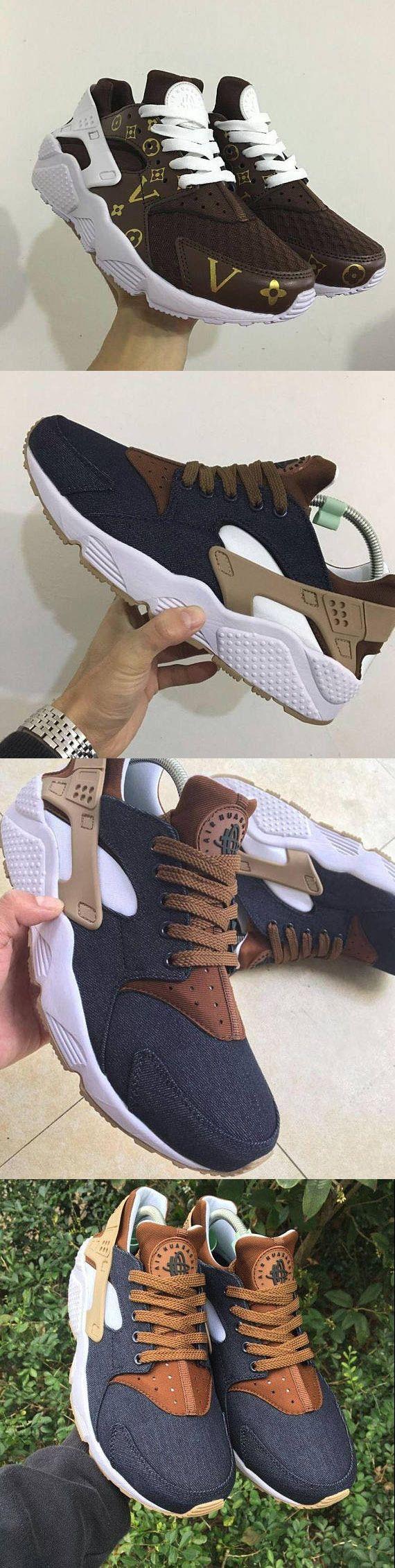 75a1a531263a Custom Nike Huarache Sneakers Hand Painted Embroidered Shoes Louis Vuitton  Supreme Bape Champion