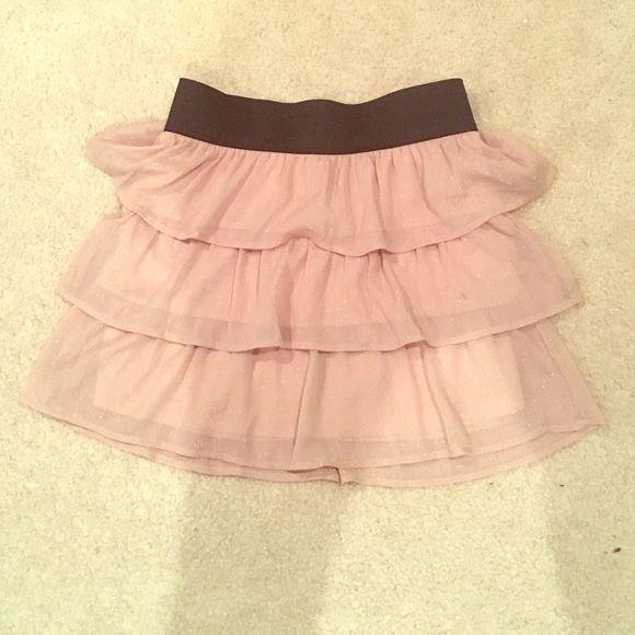 Charlotte Russe mini skirt. zipper in back Skirt with black band. Silver zipper in back. XS Charlotte Russe Skirts Mini
