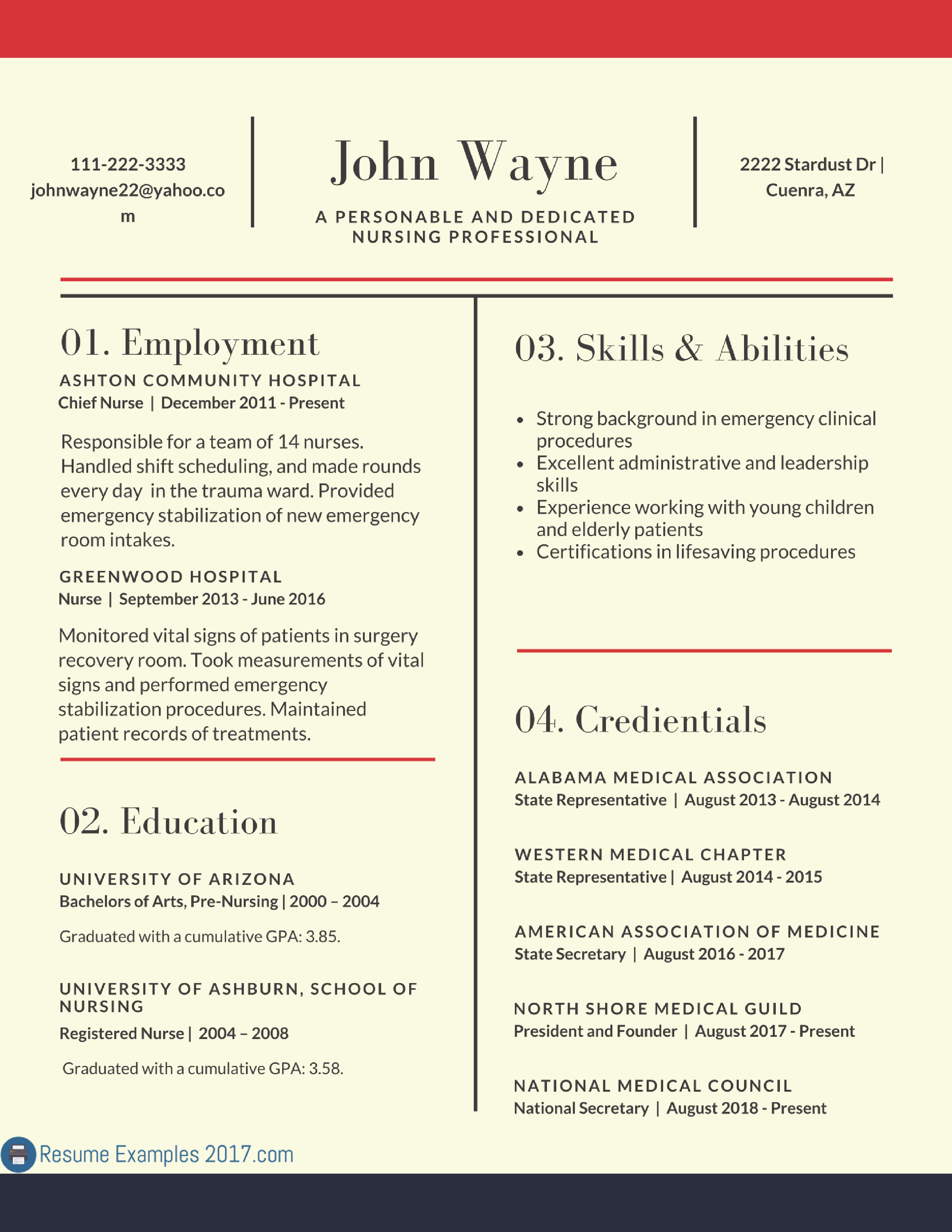 Resume Examples 2017 Skills Resume examples, Simple