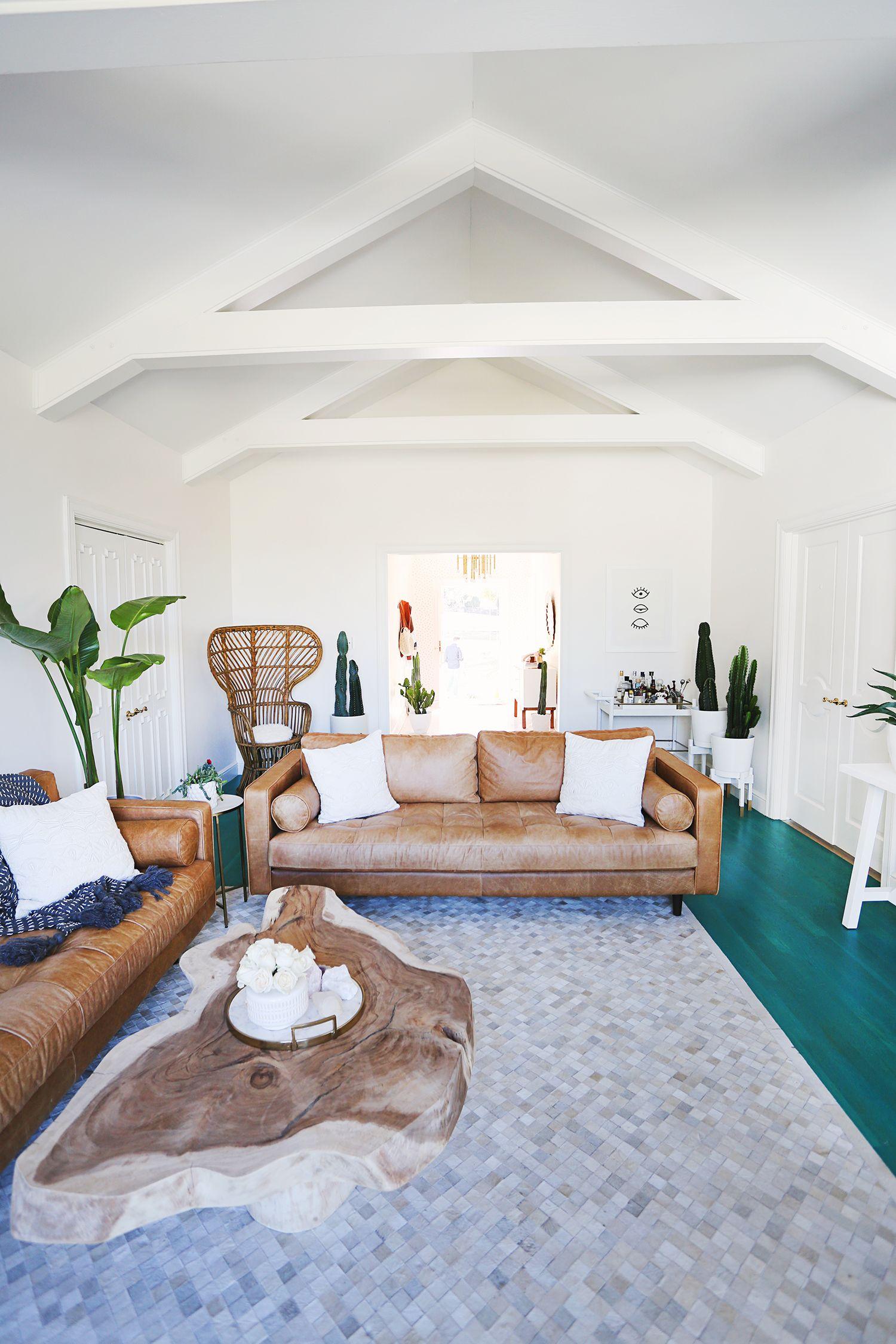 Elsie Larson's Living Room Tour | Open, airy living room ...