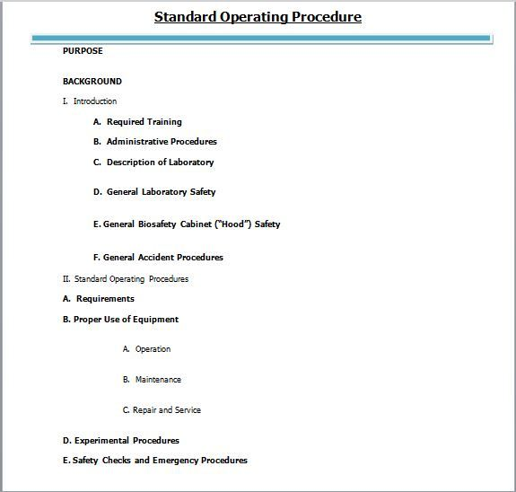 SOP Templates 28 Office rules Pinterest Standard operating - sop templates