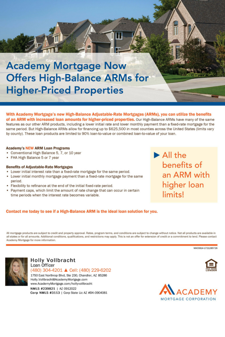 Adjustable Rate Mortgages Overview Holly Vollbracht Loan Officer At Academy Mortgage Adjustable Rate Mortgage Best Mortgage Rates Today Mortgage Assistance