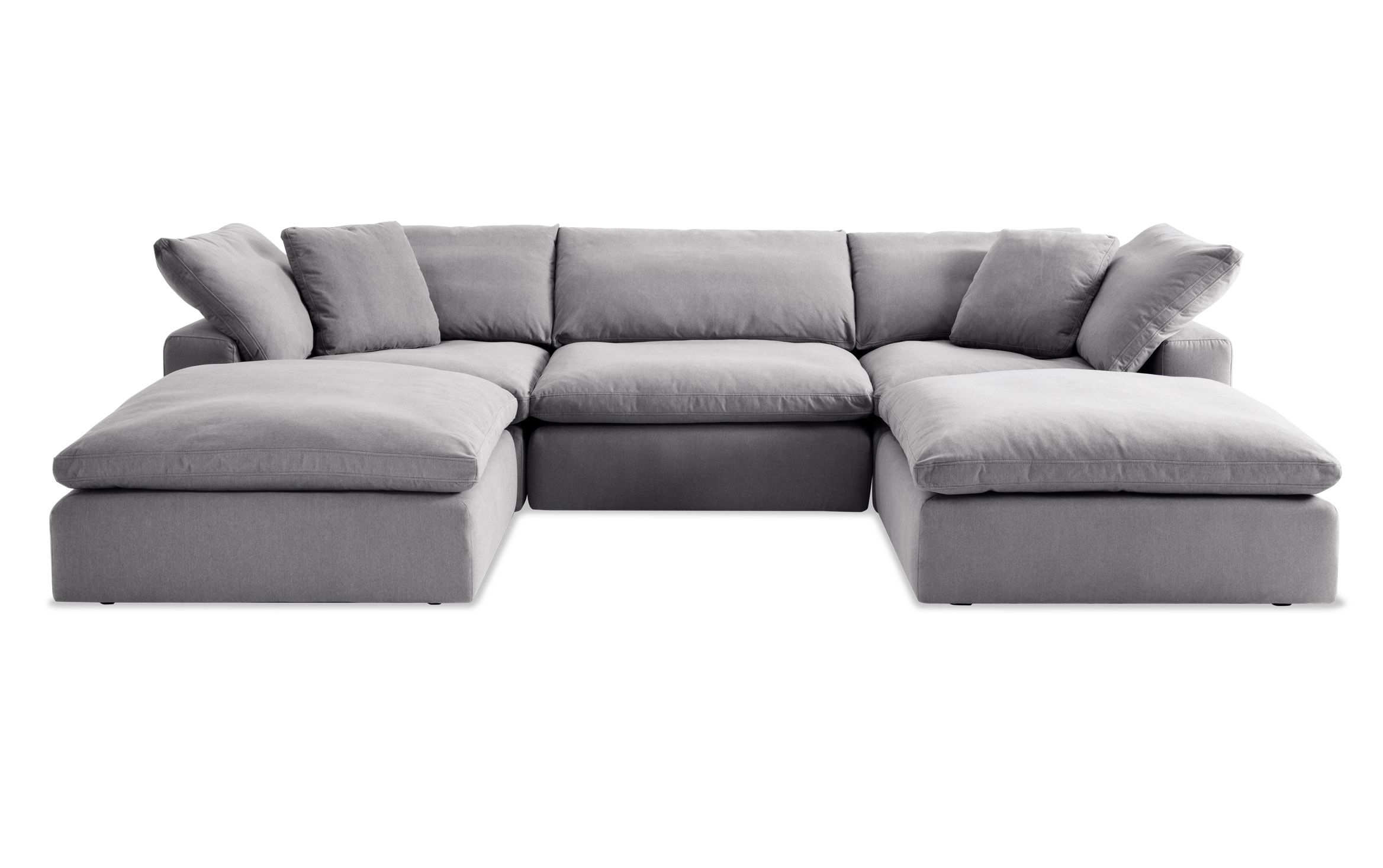 Dream Gray Modular 5 Piece Sectional Sectional Grey Sectional