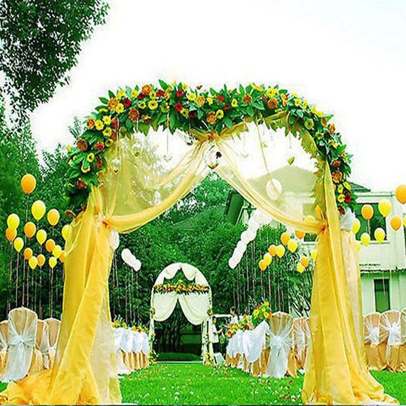 Decorative metal wedding arch white 55wx90h metal wedding decorative metal wedding arch white 55wx90h efavormart junglespirit Choice Image