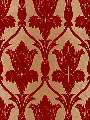 buy zoffany navarre flock wallpaper nup05004 red online at wallpaper. Black Bedroom Furniture Sets. Home Design Ideas