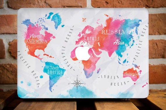 but first i need a macbook world map macbook case