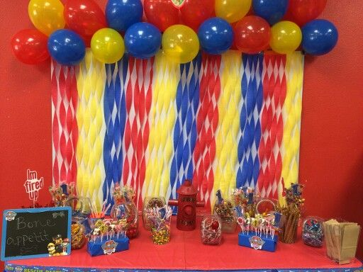 David S First Birthday Candy Table Paw Patrol Paw Patrol Party Decorations Paw Patrol Birthday Party Fiesta Paw