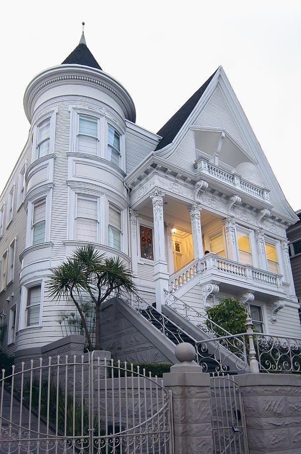 White Victorian mansion