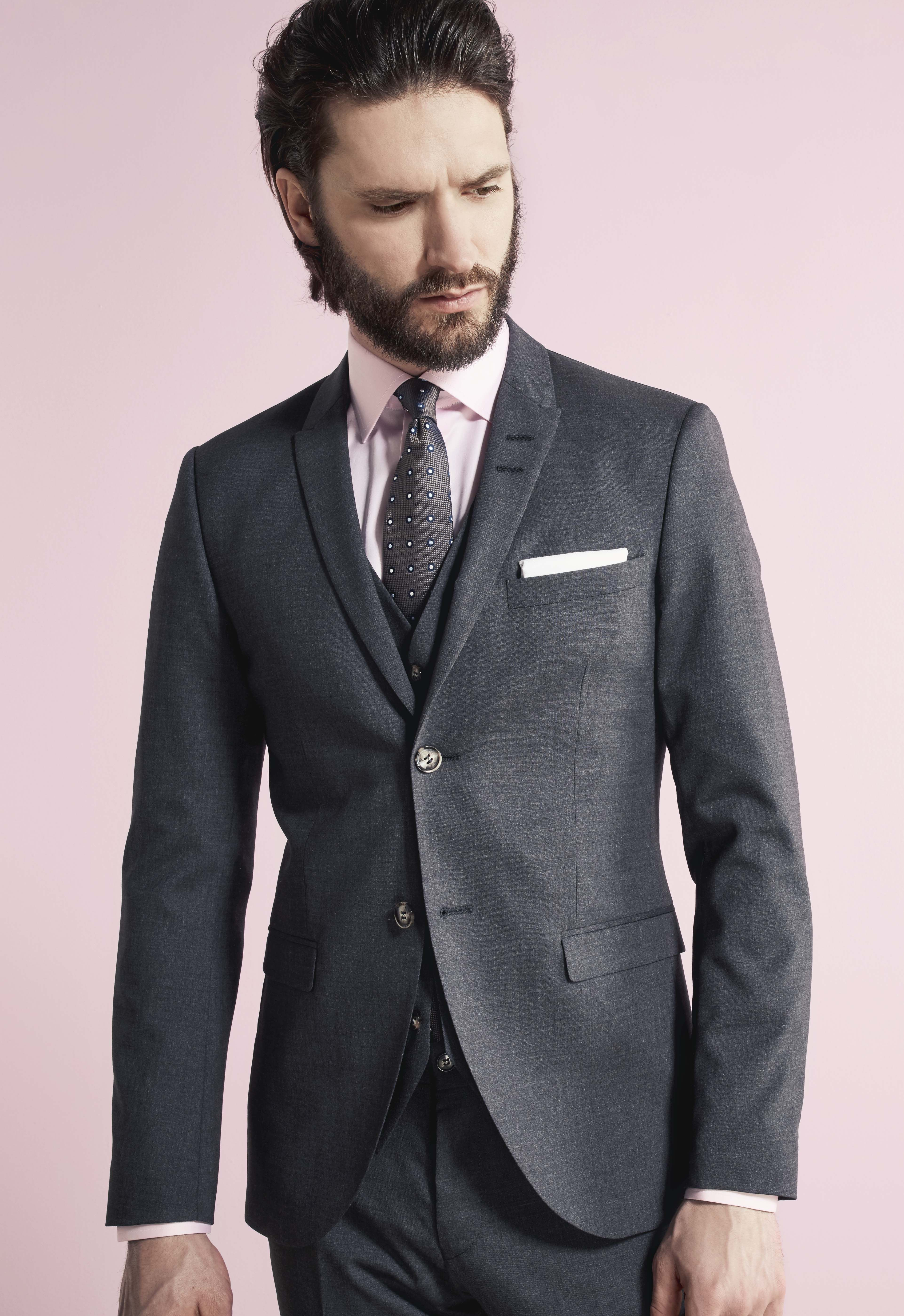 TROELSTRUP SS16. Grey three piece suit from Tiger os Sweden ...