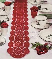 Resultado de imagem para caminos de mesa a crochet para navidad