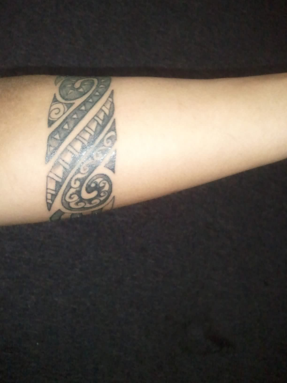 Black ink polynesian armband tattoo polynesian tattoos pinterest