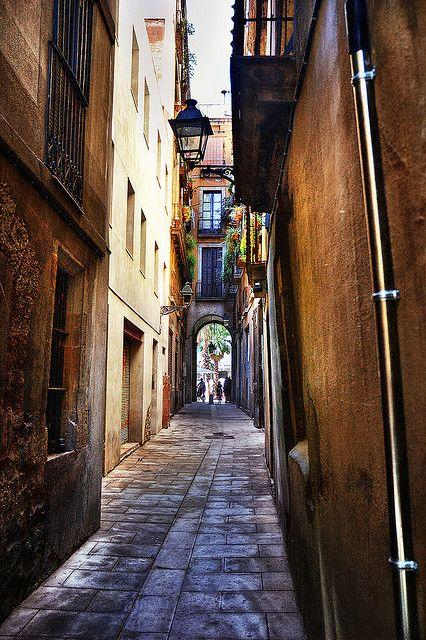 Archway Exit, Barri Gotic, Barcelona  Catalonia  by Carlos Lorenzo,