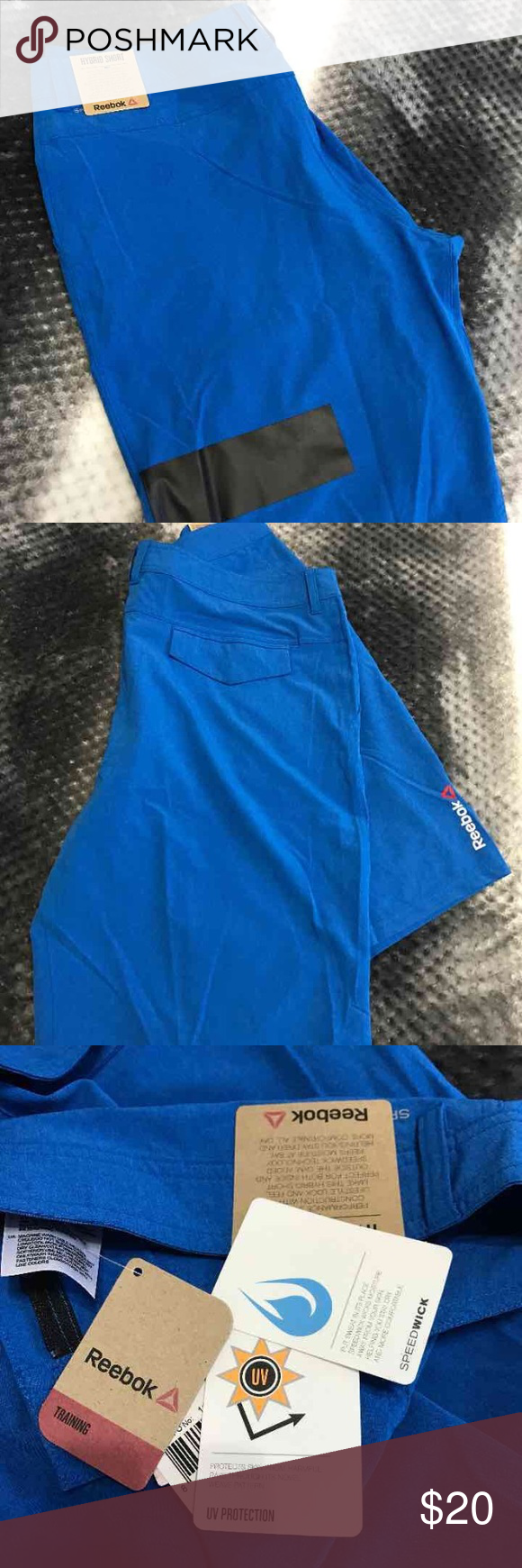 BNWT Reebok Shorts BNWT Reebok one series hybrid men's shorts. Size 36. Training, speedwick and UV protection. Great for CrossFit training. Paid $45 on sale. Smoke free home. No free shipping thanks! Reebok Shorts Athletic