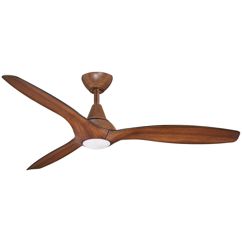 Aire A Minka Group Design Tidal Breeze 56 In Led Indoor Distressed Koa Ceiling Fan With Light And Remote Control 04662 The Home Depot In 2020 Led Ceiling Fan White