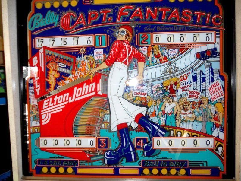 bally captain fantastic pinball machine value
