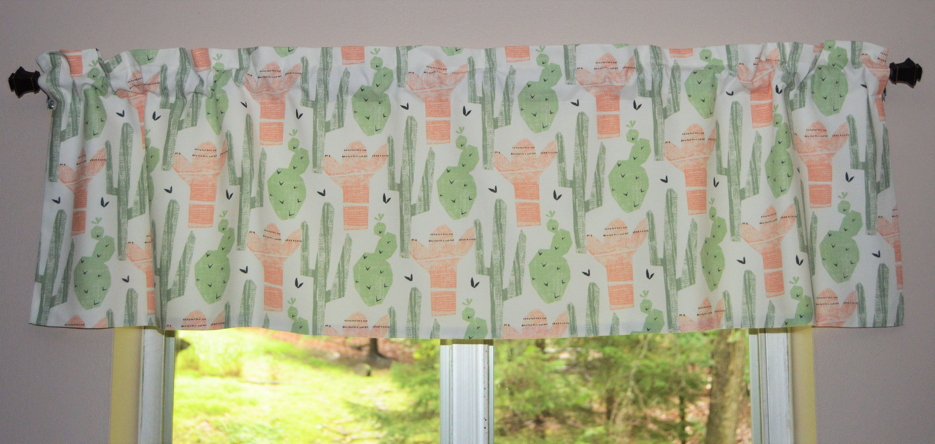 Cactus Curtains 2 Panel Set for Home Decor 5 Sizes Available Window Drapes