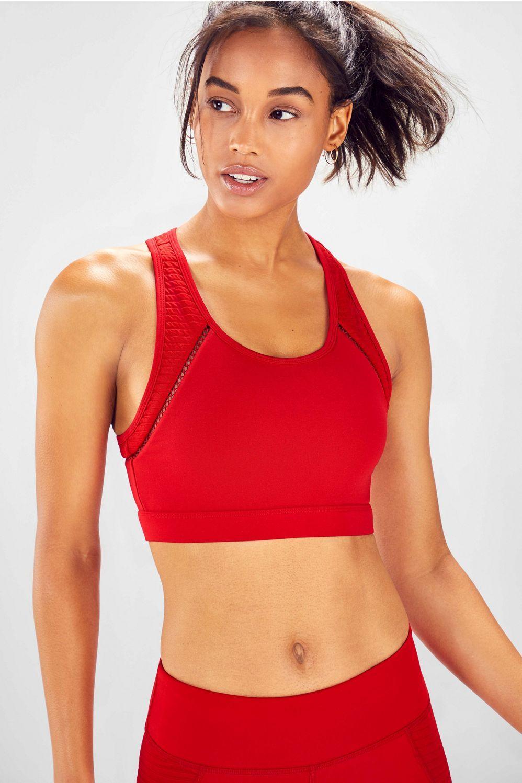 A mediumimpact bra with a builtin interior pocket? You