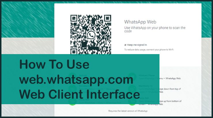 Web App Interface for Whatsapp on PC