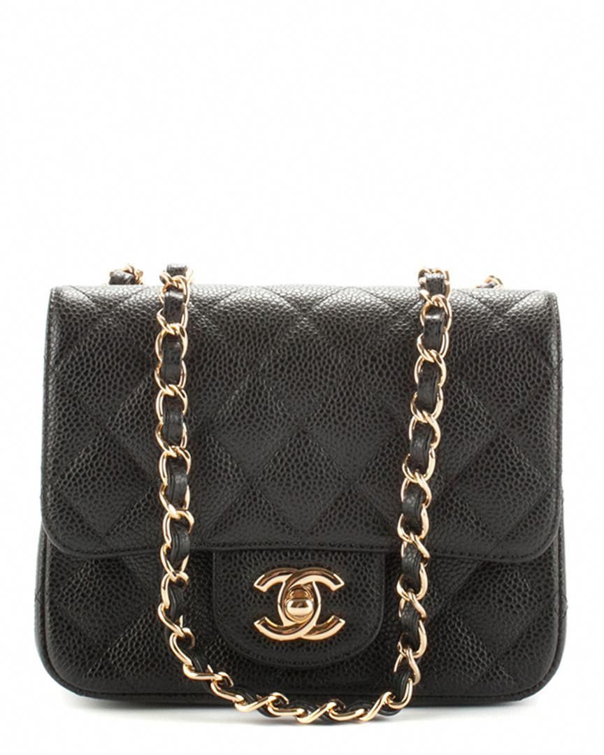 a0f49524444 Chanel Black Caviar Leather Mini Flap Bag is on Rue. Shop it now ...