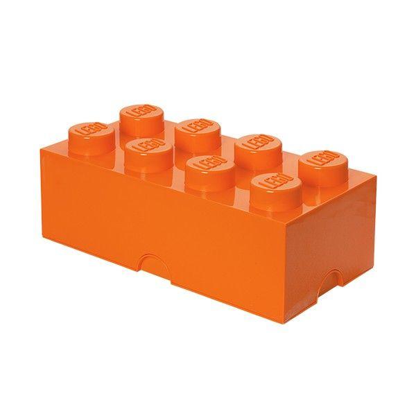 Brique de rangement empilable 8 - Orange Organisation Pinterest - Pose Brique De Verre Salle De Bain