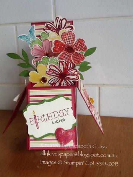 Card in a box, Flower Shop