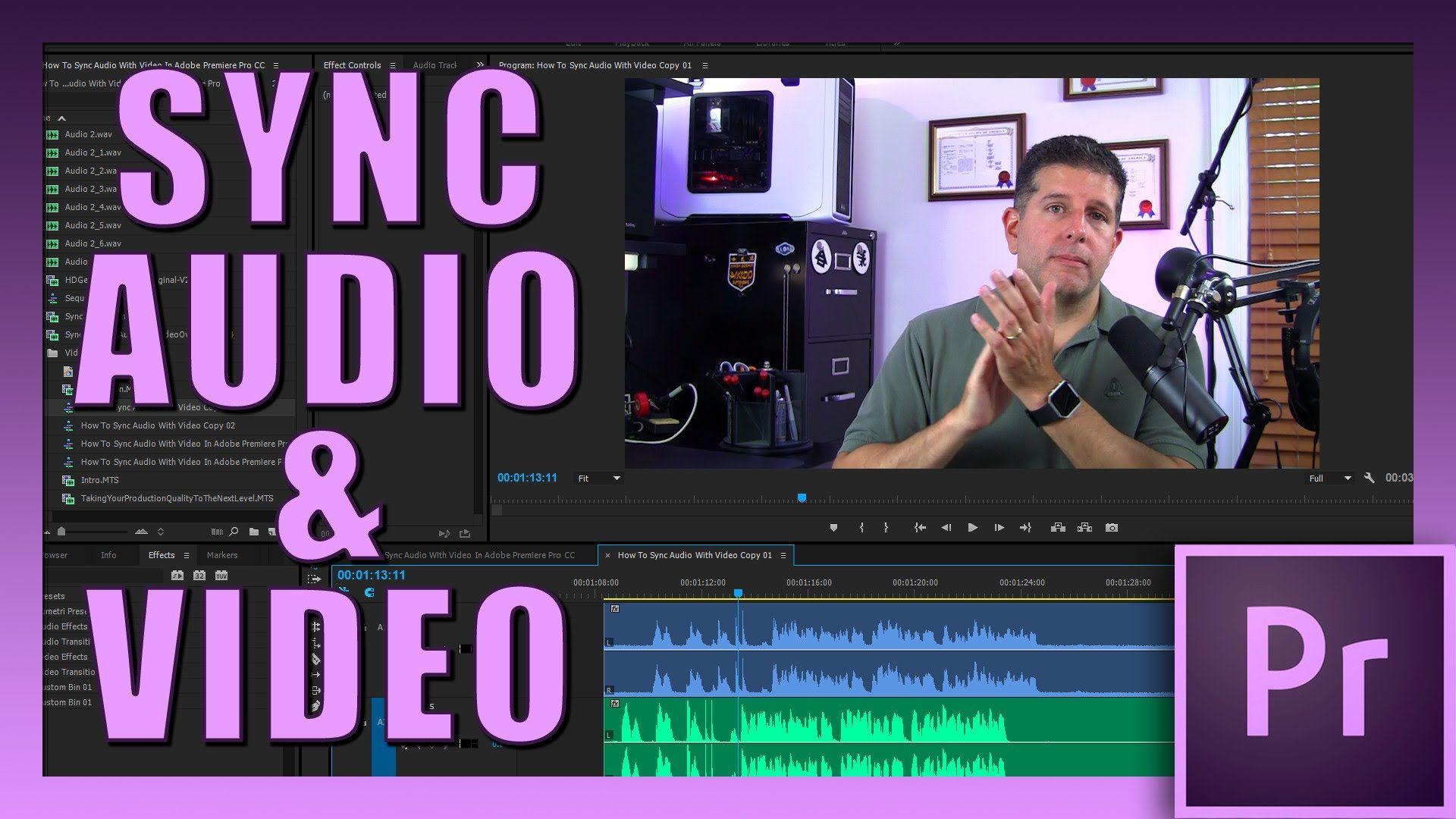 Sync Audio With Video In Premiere Pro CC Premiere pro cc
