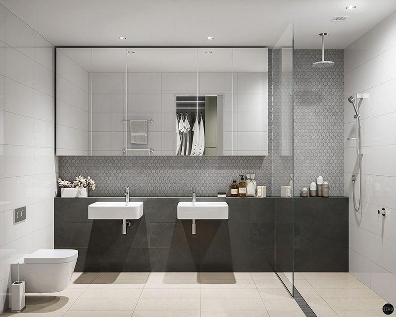 Real estate visualization VolumeVision on Behance Salle de bain - volume salle de bains