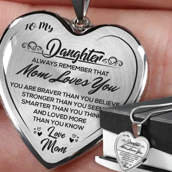 Always Remember Quote from Daddy Luxury Adjustable 18-22 Chain Unique Dad to Child Gifts Father /& Daughter Luxury Heart Necklace