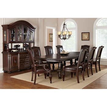 Corrine 10 Piece Dining Set Dining Table Dimensions Dining Room Table Chairs Dining
