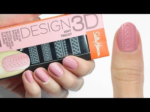 How To Use Sally Hansens Design 3d Nail Stickers Youtube Nail