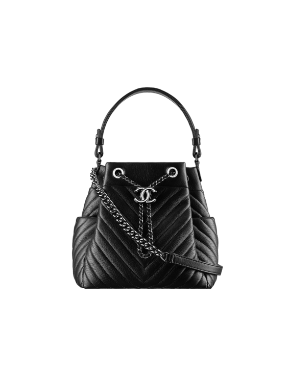 67b4ce6e0d88 Chanel Drawstring Bag  Deer leather