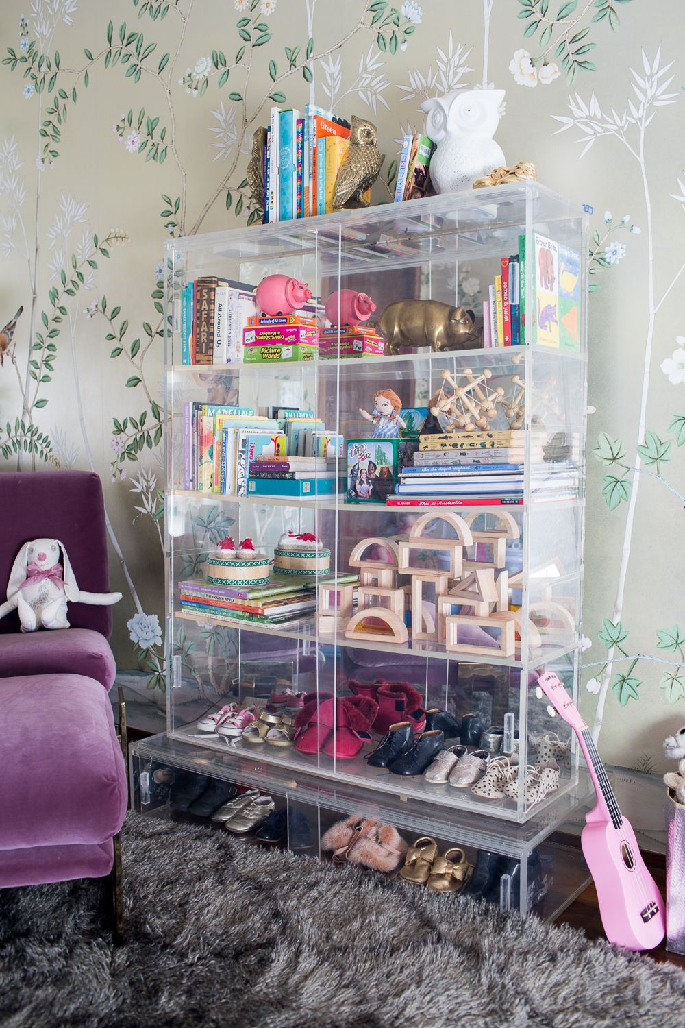 A Modern Glam Nursery Makeover The Look Lucite