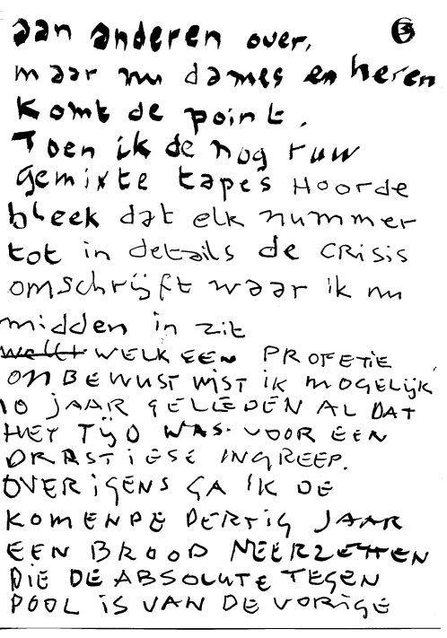 Herman Brood hand geschreven tekst ♥ 03