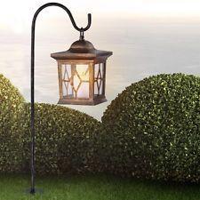 Solar Garten Laterne Metall Kupfer Stand Steh Deko Beleuchtung Außen